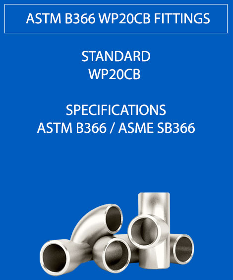 ASTM B366 WP20CB Fittings