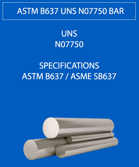 ASTM B637 UNS N07750 Round Bar